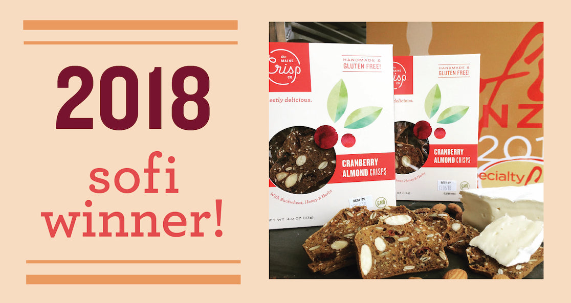 Maine Crisp Wins sofi Award for Cranberry Almond Crisps