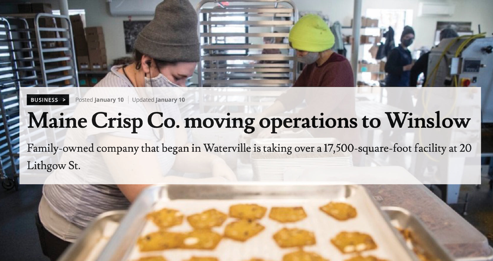 Maine Crisp Co. Moving Operations to Winslow