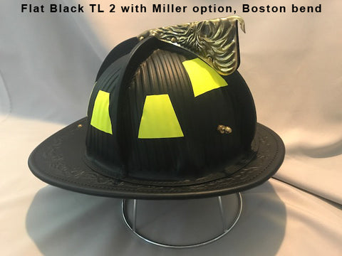 TL-2 NFPA Miller Flat Black, Base Price includes choice of goggles and Nape Suspension with detachable earlaps