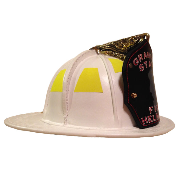 TL-2 NFPA Traditional Leather White, Base Price  includes choice of goggles and Nape Suspension with detachable earlaps