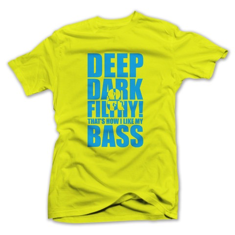 DEEP DARK FILTHY NEON T-SHIRT YELLOW W/ BLUE
