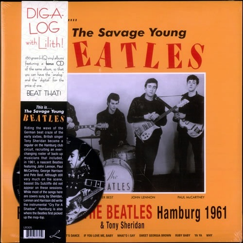 THE BEATLES & TONY SHERIDAN - THE SAVAGE YOUNG BEATLES HAMBURG 1961