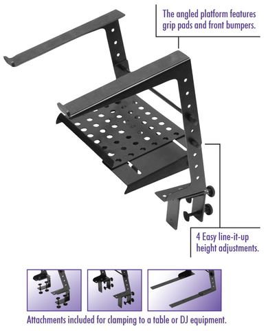 ON STAGE STANDS - LPT6000 MULTI-PURPOSE LAPTOP STAND