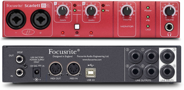 FOCUSRITE - SCARLETT 8i6 USB AUDI INTERFACE W/ 2 PE-AMP