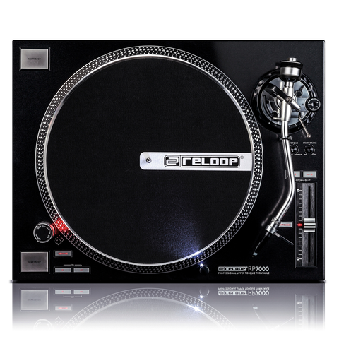 RELOOP - RP7000 QUAD DRIVEN DJ TURNTABLE W/ UPPER TORQUE DIRECT DRIVE