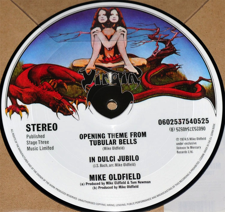 "MIKE OLDFIELD - TUBULAR BELLS 7"" (PICTURE DISC)"