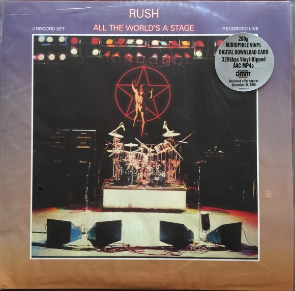 RUSH - ALL THE WORLDS A STAGE 2LP