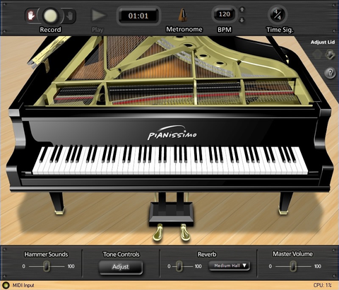 Acoustica - Pianissimo Grand Piano Virtual Instrument For Pc (Download)