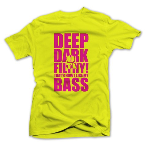 DEEP DARK FILTHY NEON T-SHIRT YELLOW W/ PINK