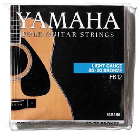 YAMAHA - FOLK GUITAR STRINGS SUPER LIGHT GAUGE 80/20 BRONZE