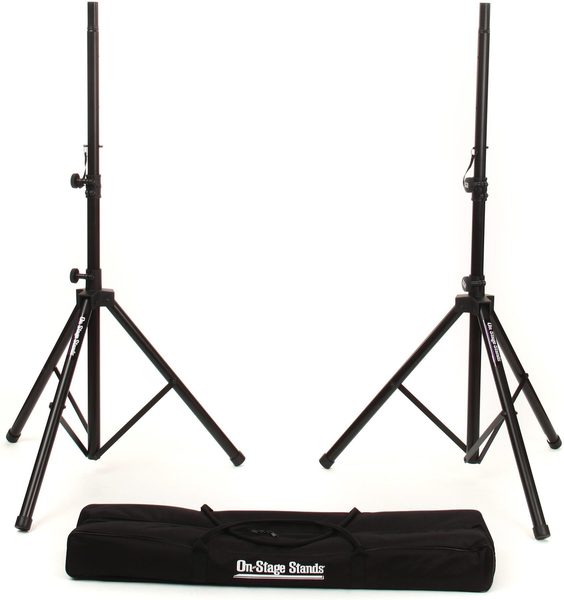 ON STAGE STANDS - ALL-ALUMINUM SPEAKER STAND PAK WITH ZIPPERED BAG