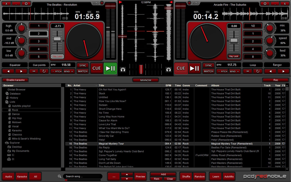 PCDJ RED Mobile 3 - DJ Software For Mobile DJ`s