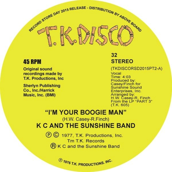 "KC & THE SUNSHINE BAND - I'M YOUR BOOGIE MAN (TODD TERJE EDIT) 10"" (GREEN VINYL)"