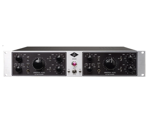 UAD - 2-610S DUAL CHANNEL TUBE MIC/INSTRUMENT PREAMP-EQ