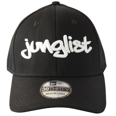 JUNGLIST CURVE BILL HAT BLK W/ WHITE