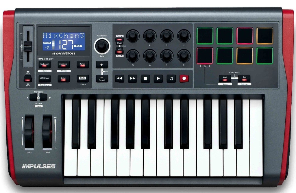 NOVATION - IMPULSE KEY CONTOLLER W/ 25 KEY