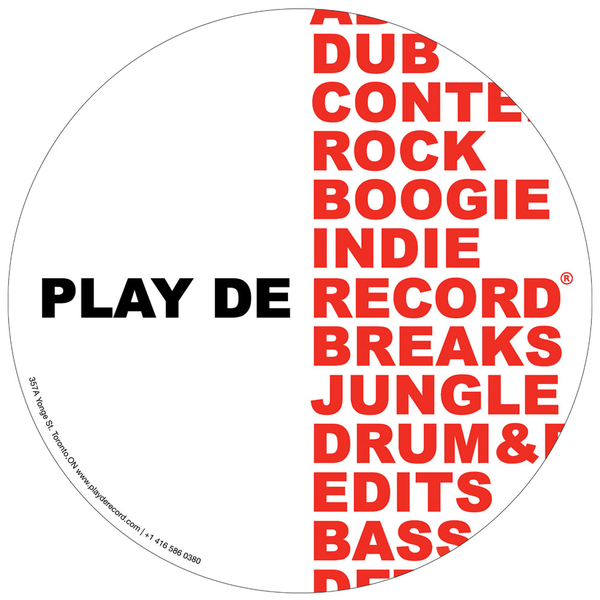 PlayDeGear - Slipmats with 2 separate designs (Play Dat Funky) WHITE