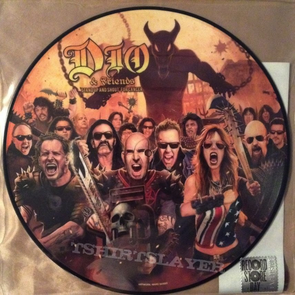 DIO & FRIENDS - STANDUP AND SHOUT FOR CANCER PIC DISC EP
