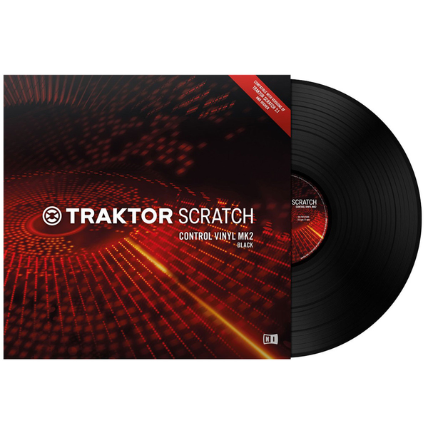 NATIVE INSTRUMENTS - TRAKTOR SCRATCH CONTROL VINYL MK2 BLACK