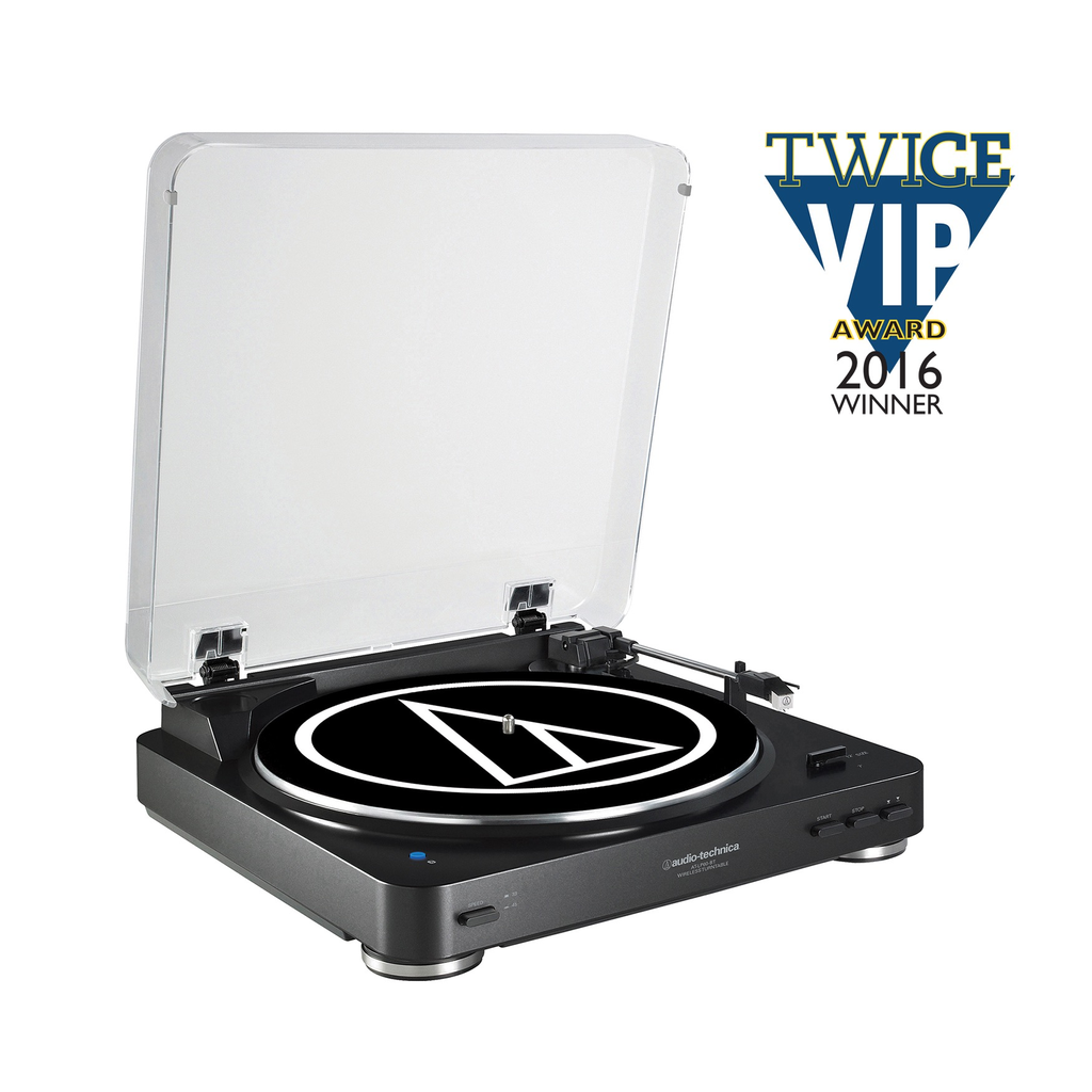AUDIO-TECHNICA - ATLP60 BT-BLK FULLY AUTOMATIC WIRELESS BELT-DRIVE STEREO TURNTABLE (BLUETOOTH)
