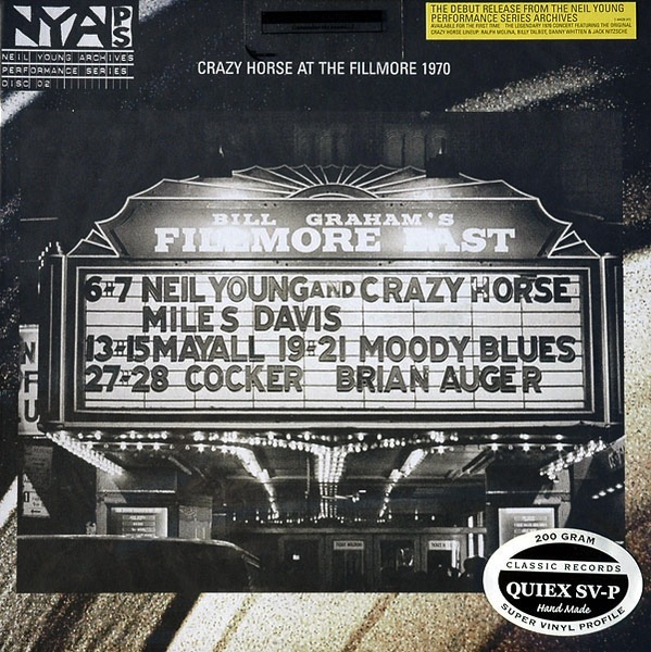 NEIL YOUNG AND CRAZY HORSE - AT THE FILLMORE EAST LP