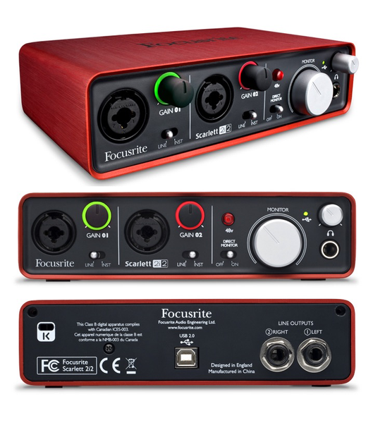 FOCUSRITE - SCARLETT 2i2 AUDIO INTERFACE