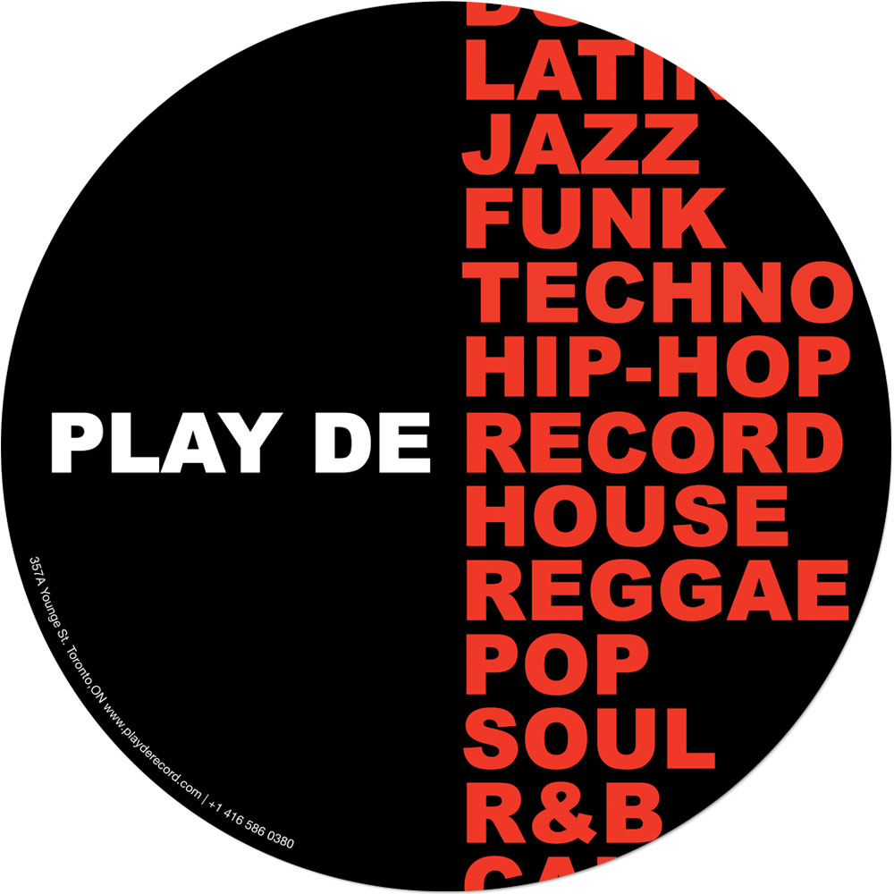 PlayDeGear - Slipmats with 2 separate designs (Play Dat Funky) Black