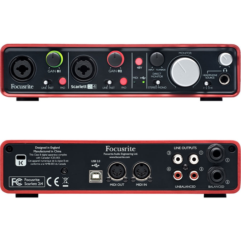 FOCUSRITE - SCARLETT 2i4 AUDIO INTERFACE