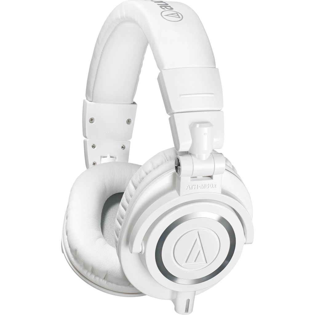 AUDIO TECHNICA - ATH-M50X WHITE HEADPHONES