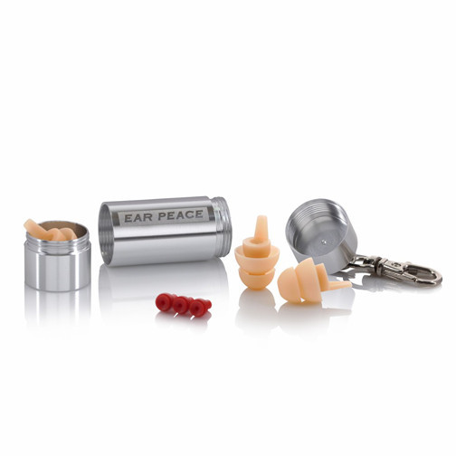 Ear Peace - HD Hearing protection and White ear plugs and Silver Case
