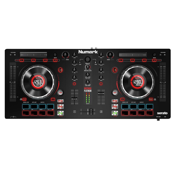 NUMARK - MIXTRACK PLATINUM DJ CONTROLLER WITH JOG WHEEL DISPLAY