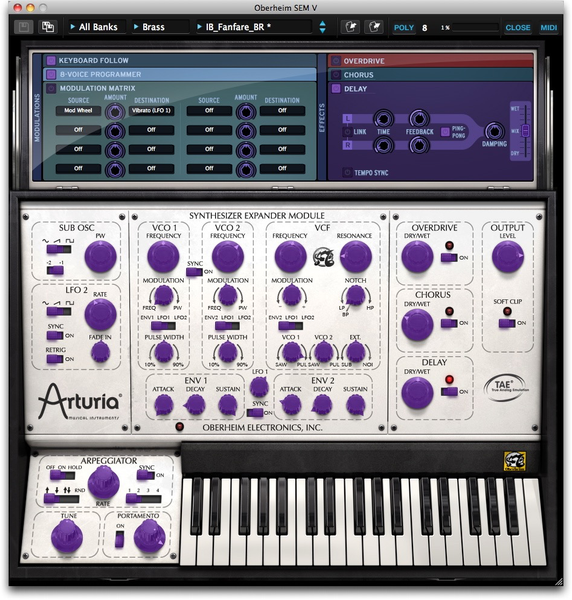 Arturia - Oberheim SEM V software synthesizer (Download)