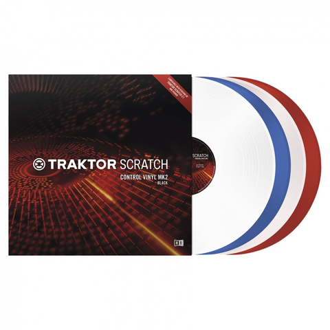 NATIVE INSTRUMENTS - TRAKTOR SCRATCH CONTROL VINYL MK2 CLEAR