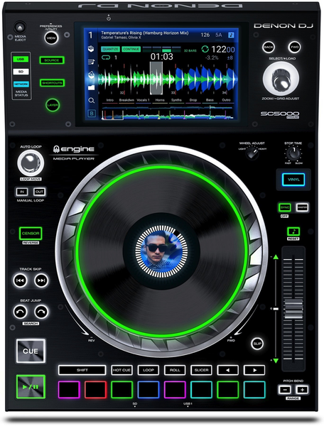 "DENON SC5000 PRIME - PROFESSIONAL MEDIA PLAYER WITH 7"" MULTI-TOUCH DISPLAY"