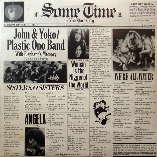 JOHN LENNON - SOMETIME IN NEW YORK 2LP (180 GRAM)