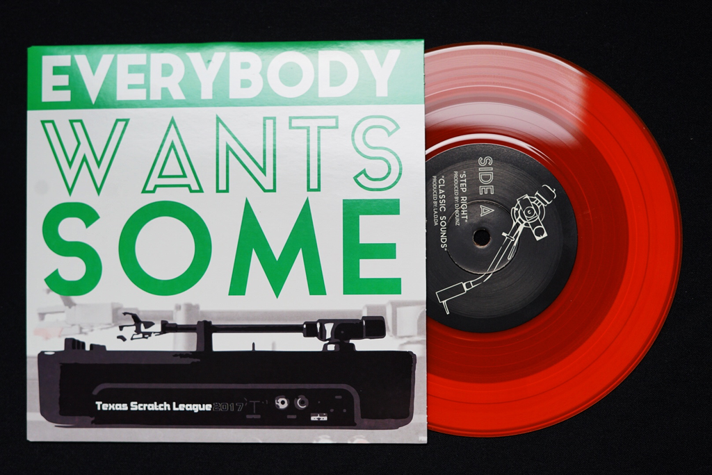 "Texas Scratch League -Everybody Wants Some Orange 7"" Record"