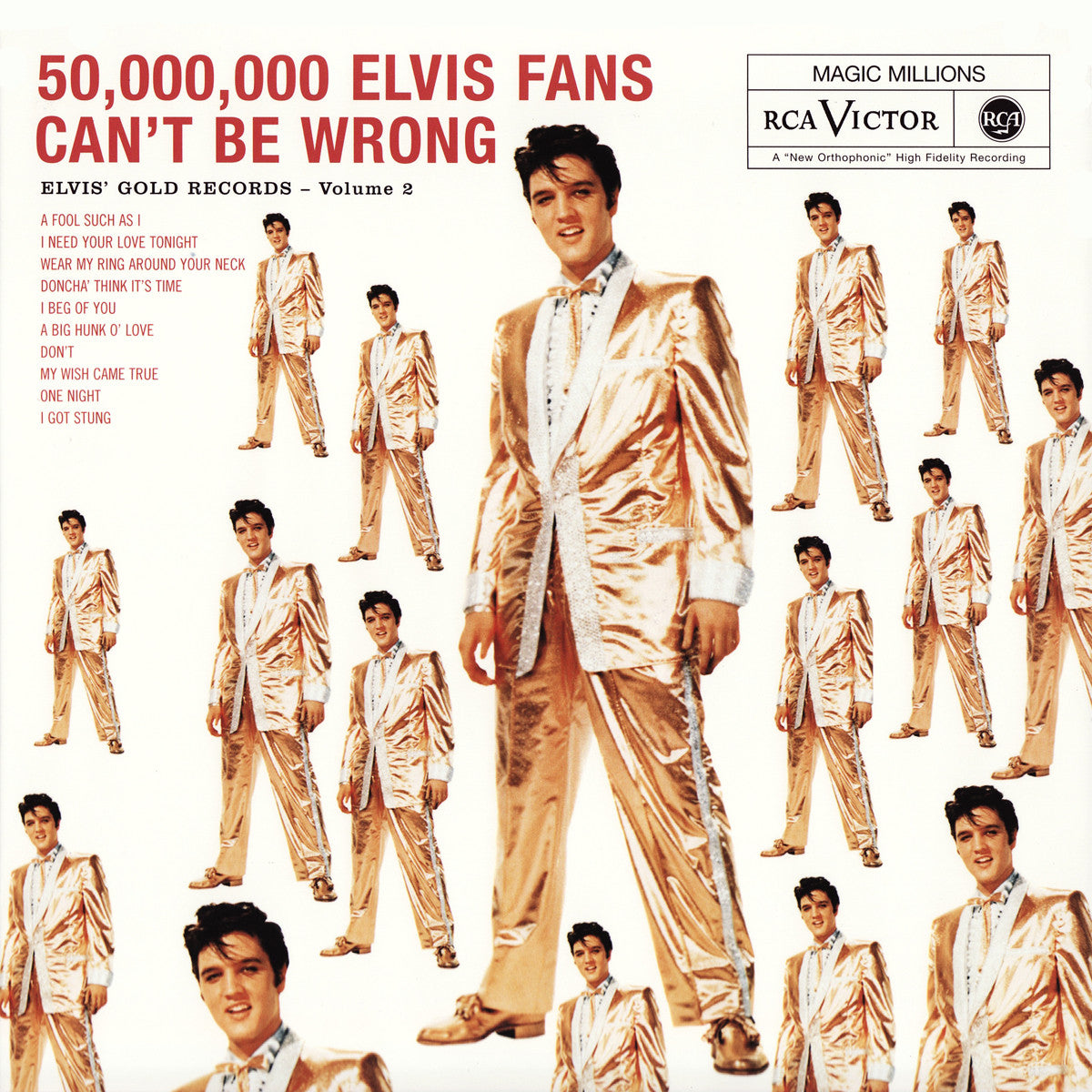 ELVIS PRESLEY - 50,000,000 ELVIS FANS CAN'T BE WRONG(GOLDEN RECORDS VOL. 2) LP