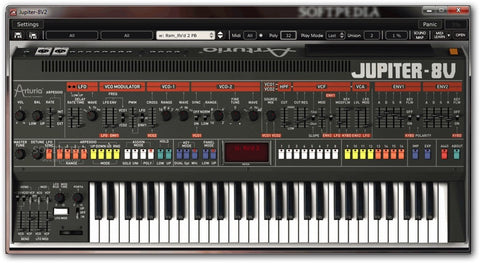 Arturia - Jupiter-8V Software Synthesizer  (Download)