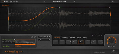 Cableguys - VolumeShaper 4 Sidechain compression, sample-shaping (Download)