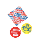 Students Demand Action Button & Sticker Pack
