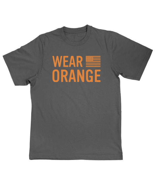 Wear Orange Grey Tee