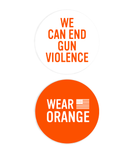 Wear Orange Button & Sticker Pack