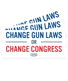 Change Gun Laws Bumper Sticker Pack