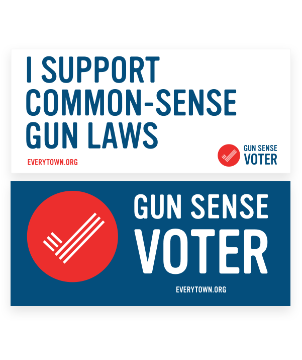 Gun Sense Voter Bumper Sticker Set