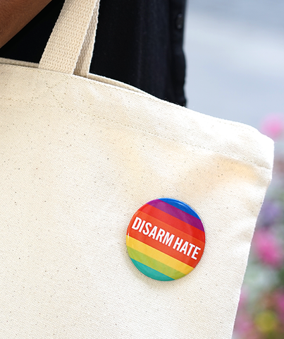 Disarm Hate Pride Button Set