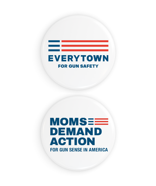 Everytown and Moms Button & Sticker Pack
