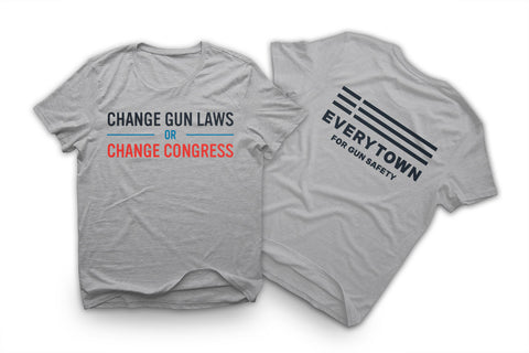 Change Gun Laws Grey Tee