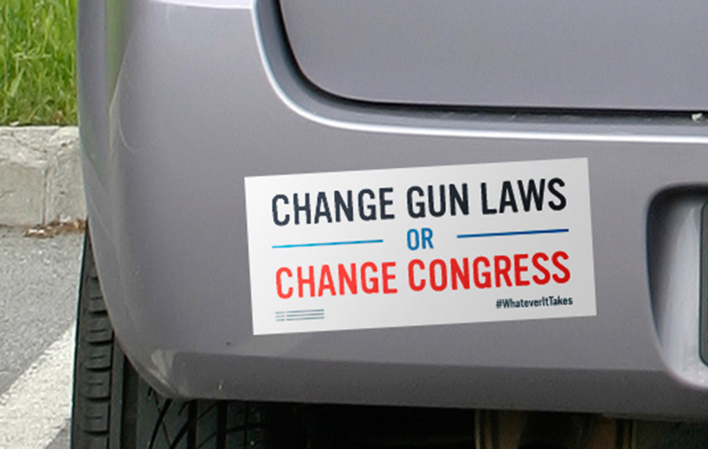 """Change Gun Laws or Change Congress"" Car Magnet"