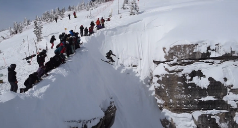 Trevor Kennison dropping the couloir