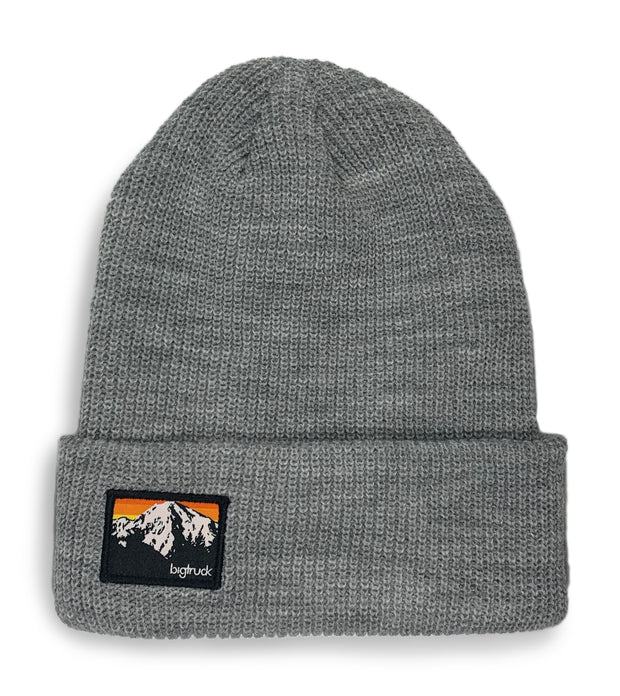 Light Grey Knit Beanie MTNS